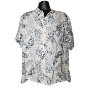 Tasso Elba Island Hawaiian Silk Linen Blend Shirt
